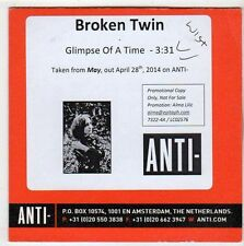 (EY992) Broken Twin, Glimpse of a Time - 2014 DJ CD