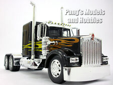 Kenworth W900 Black Custom Truck Cab Diecast Metal 1/32 Scale Model by NewRay
