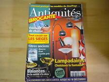 REVUE ANTIQUITE BROCANTE N° 36 / VAISSELLE DE CHASSE / BALANCE DECO / LES SIEGES