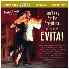 Songs from Evita: Don't Cry for me Argentina, various, Acceptable Karaoke
