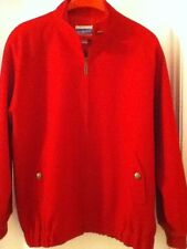 Pendleton Womens' Large Deep Red Coat 100% wool  U.S.A. made