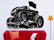 Monster Truck Wall Decal Vinyl Sticker Big Monster Car Interior Art Decor (6bmc)