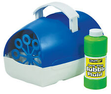 Cheetah Portable Party Time Blue Battery Operated Bubble Machine with Fluid