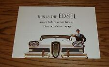 1958 Edsel Ford Foldout Sales Brochure 58