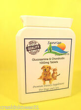 SUNRISE SUPPLEMENTS GLUCOSAMINE & CHONDROITIN FOR DOGS & CATS 100 TABLETS