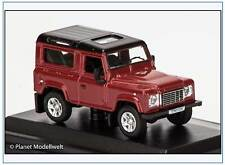 LRDF004 Land Rover Defender 90, rot, Dach in schwarz, Oxford 1:76, NEU 2/2016&