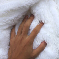 """White PV plush velvet fabric faux fur fabric Photography backdrops 60"""" BTY"""