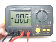 AideTek Precision Milliohm Meters vs Megger 4 wire kelvin clip adjust large LCD