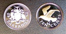 BARBADES 10 CENTS 1973 PROOF