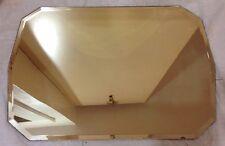 UNIQUE Vintage MIRROR Art Deco Nouveau Vanity Dresser Tray Beveled glass antique
