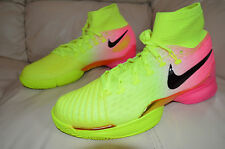 New Nike Air Zoom Ultrafly HC QS Tennis Shoes Volt Hyper Pink 819692-706 sz 10.5
