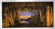 "Stage Set For ""The Woodland Princess"" Maxfield Parrish Design 4"" x 8"" Postcard"