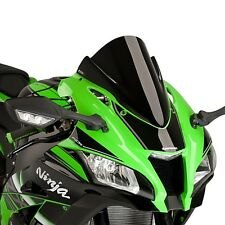 Windscreen Puig Kawasaki ZX-10R 2016 negro racing double bubble screen