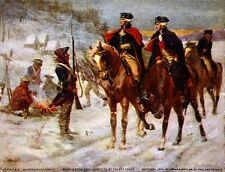 13x16 Reprint Art Poster: Washington and Lafayette at Valley Forge