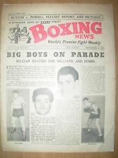 VINTAGE BOXING NEWS MAGAZINE NOVEMBER 4th 1953 JOHNNY WILLIAMS v AL BERNARD