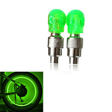 2pcs creative Car Bike Green stunning skull LED Valve Tire lights Warning Lights