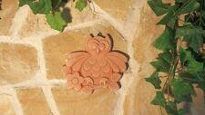 Terracotta Wandbild Eule Uhu Tier Wald Baum Toskana Dekoration Garten Haus