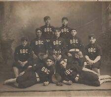 Large 1890s Photo of the BBC Baseball Team in Uniform w/ Bats & Gloves