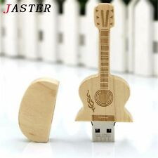 8GB Wooden Guitar Shaped Memory Stick USB Flash Drive Music Musical