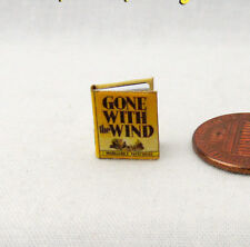 1:24 Scale Book GONE WITH THE WIND Miniature Book Dollhouse