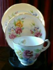 VINTAGE ROYAL Stafford Tè Set Trio Sweetpea PATTERN TAZZA PIATTINO & PIASTRA No 1