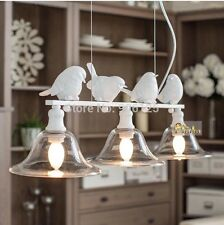 3 Light Modern Chandelier Light Fixture Nordic Modern Bird Chandelier White
