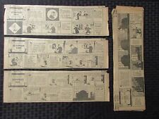 """1928 1930 GOOFEY MOVIES Daily Strips by Fred Neher G/VG 13X4"""" LOT of 42"""