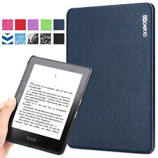 Poetic Slimline Slim PU Leather Book Case Cover for Amazon Kindle Voyage Navy