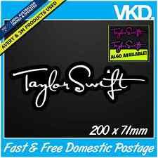 Taylor Swift Sticker/Decal - Pop Rock Music Vinyl Singer 1989 Tour Car Band Girl
