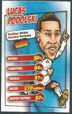MATCH MAGAZINE SOCCER STAR CARICATURE CARD-GERMANY-LUCAS PODOLSKI