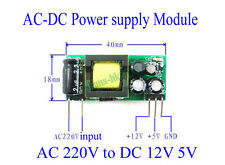AC-DC 220V to 12V 5V 250mA 200mA Isolated Step Down Buck Power Supply Module