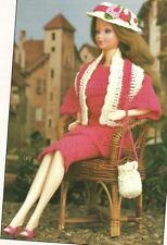 Tunic Ensemble Outfit for Barbie Type Fashion Doll crochet PATTERN INSTRUCTIONS