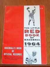 The Little Red Book of Baseball 1964  Baseball's Book of Official Records