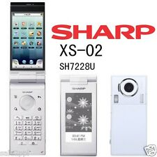 Sharp SH7228U XS-02 White 8MP WiFi Unlocked 3G Android Flip Clamshell Smartphone