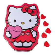 Hello Kitty Sweet Heart Candy in Embossed Illustrated Figure Metal Tin SEALED