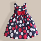 NEW Girls Dress Colorful Dot Sundress Cotton Party Pageant Kids Clothing SZ 2-8