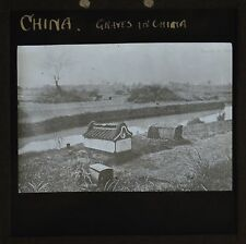 Magic Lantern Slide Chinese Graves In China
