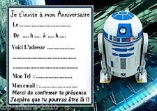 5 cartes invitation anniversaire  star wars  06  d'autres en vente !!