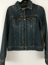 Abercrombie & Fitch Denim Jean Jacket Womens Sz S Button Front Medium Wash
