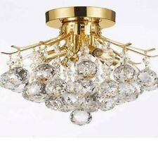 Crystal chandelier ,flush Mount,gold,4 Lights ,balls Pendant,new-Free Shipping