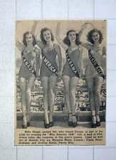 1949 Bebe Shopp Miss America Margaret Munn Frieda Roser Avelina Baella