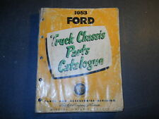 1953 FORD MERCURY TRUCK CHASSIS PARTS CATALOG BOOK PRINTED IN CANADA 1954