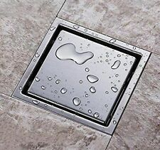 304 Stainless Steel 150 X 150mm Tile Insert Square Bathroom Shower Floor Drain