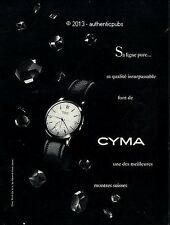 PUBLICITE CYMA MONTRE LIGNE PURE SUISSE BIJOU WATCH CLOCK DE 1953 FRENCH AD PUB