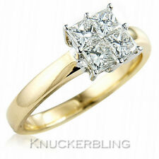 0.75ct Princess Cut Diamond Ring F VS 18ct Yellow Gold Engagement Ring Square