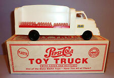 """MARX VINTAGE COLLECTIBLES 1995 Plastic PEPSI-COLA DELIVERY TRUCK with BOX ~ 10"""""""