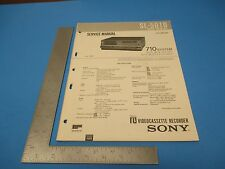 1981 SONY Beta Videocassette Recorder SL 50-10 710 System Operation Manual  M656