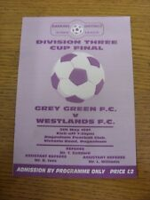 05/05/1997 Barking Sunday League Division 3 Cup Final: Grey Green v Westlands [A