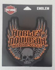 Patch embroidered sew on, Harley-Davidson, Emblem Skull Wings