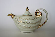 Vintage Hall Gold Trim & Lace Aladdin Genie Tea Pot 6 Cup